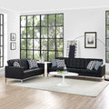 Modway Loft 2 Piece Leather Sofa and Loveseat Set