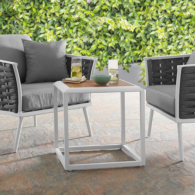 Modway Stance Outdoor Patio Aluminum Side Table