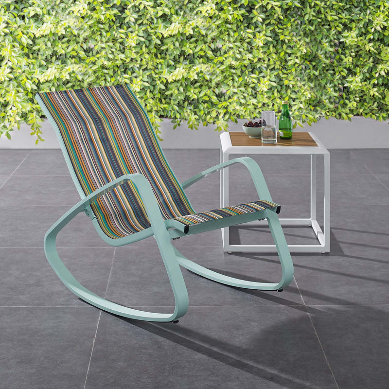 Modway Traveler Rocking Outdoor Patio Mesh Sling Lounge Chair