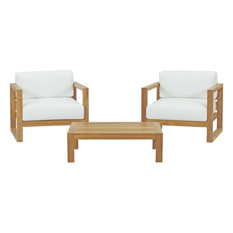 Modway Upland 3 Piece Outdoor Patio Teak Set-EEI-3114