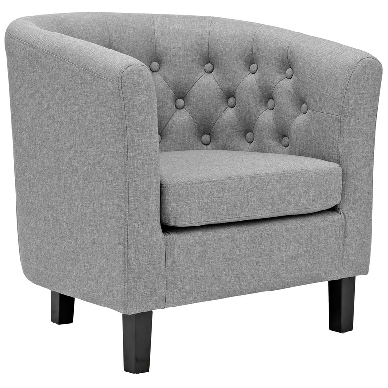Modway Prospect 2 Piece Upholstered Fabric Armchair Set