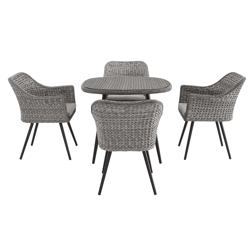 Modway Endeavor 5 Piece Outdoor Patio Wicker Rattan Dining Set