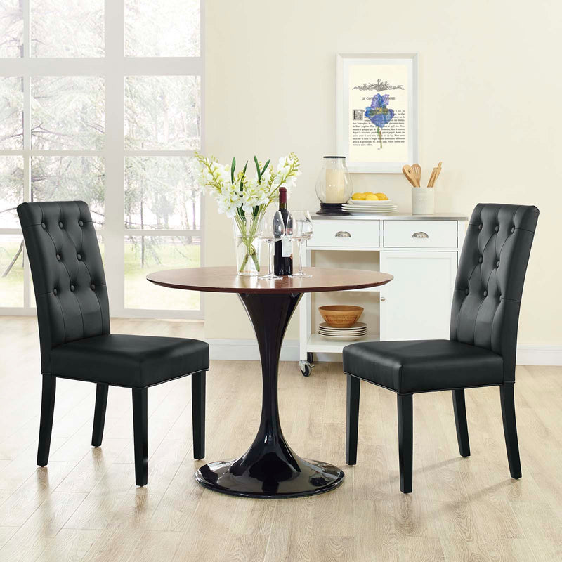 Modway Confer Dining Side Chair Vinyl Set of 2