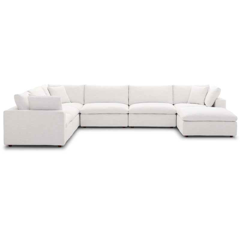 Modway Commix Down Filled Overstuffed 7 Piece Sectional Sofa Set