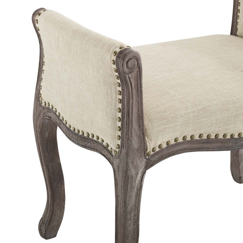 Modway Avail Vintage French Upholstered Fabric Bench