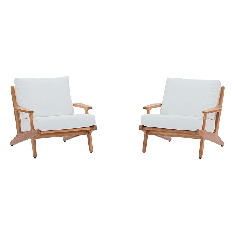 Modway Saratoga 2 Piece Outdoor Patio Teak Set