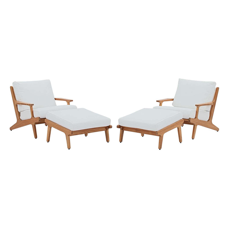 Modway Saratoga 4 Piece Outdoor Patio Teak Set