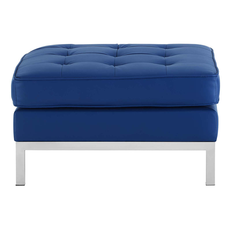 Modway Loft Tufted Button Upholstered Faux Leather Ottoman