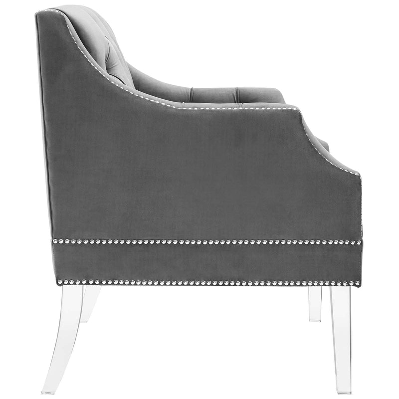 Modway Proverbial Tufted Button Accent Performance Velvet Armchair