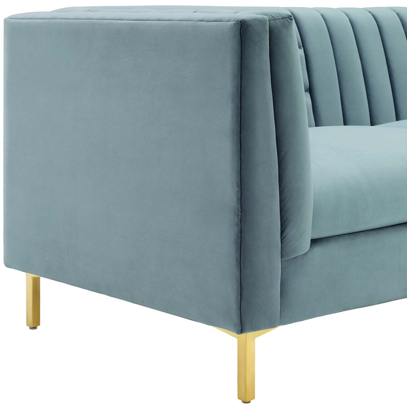 Modway Ingenuity Channel Tufted Performance Velvet Sofa