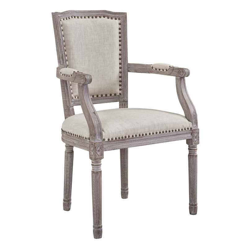 Modway Penchant Dining Armchair Upholstered Fabric Set of 4