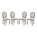 Modway Arise Dining Side Chair Upholstered Fabric Set of 4