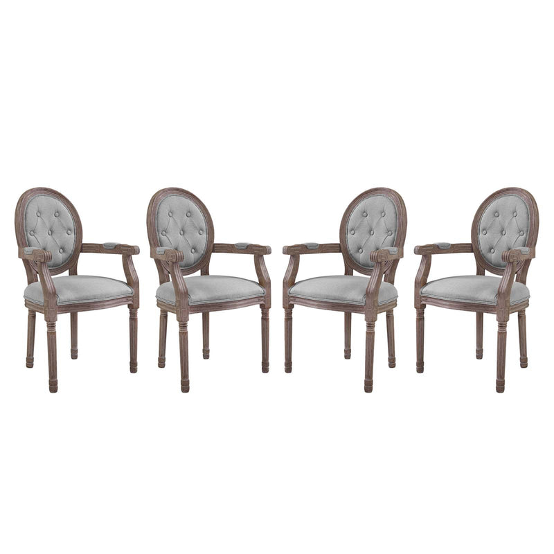 Modway Arise Dining Armchair Upholstered Fabric Set of 4