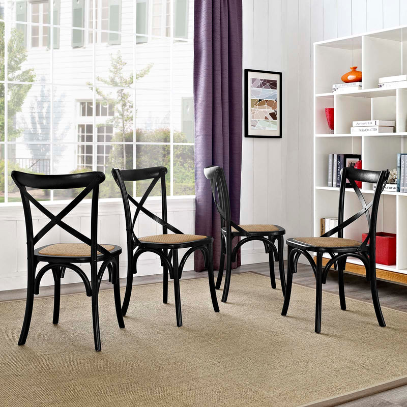 Modway Gear Dining Side Chair Set of 4