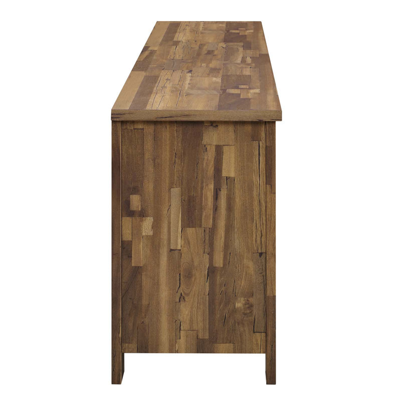"Modway Cheshire 70"" Rustic Sliding Door Buffet Table Sideboard"