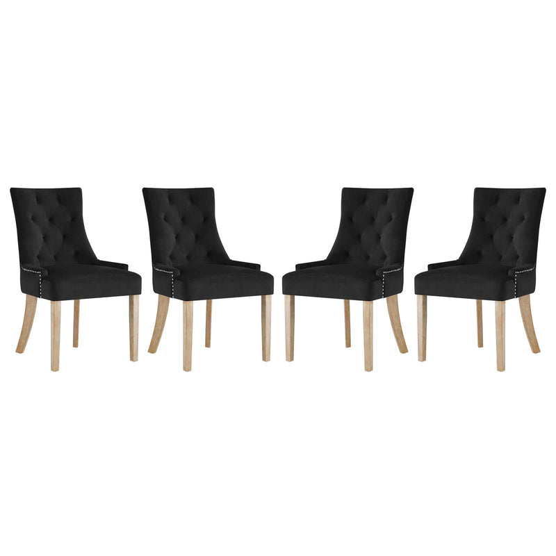 Modway Pose Dining Chair Performance Velvet Set of 4