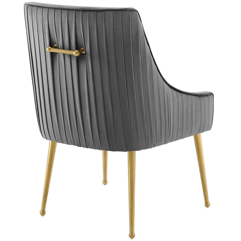 Modway Discern Pleated Back Upholstered Performance Velvet Dining Chair