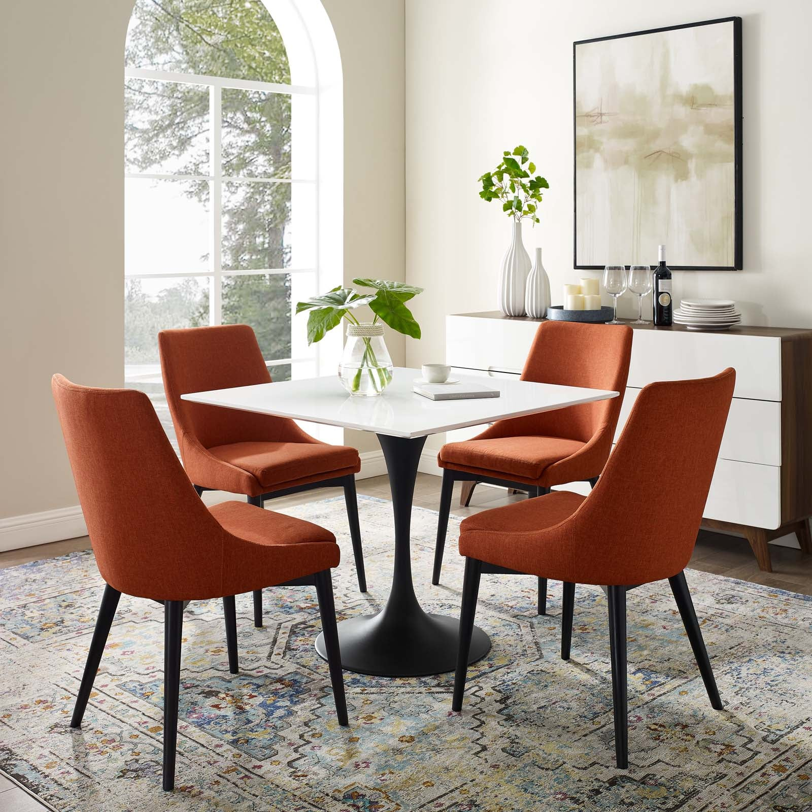 Modway Lippa 36 Square Wood Top Dining Table