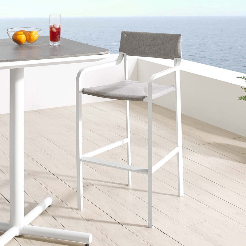 Raleigh Stackable Outdoor Patio Aluminum Bar Stool