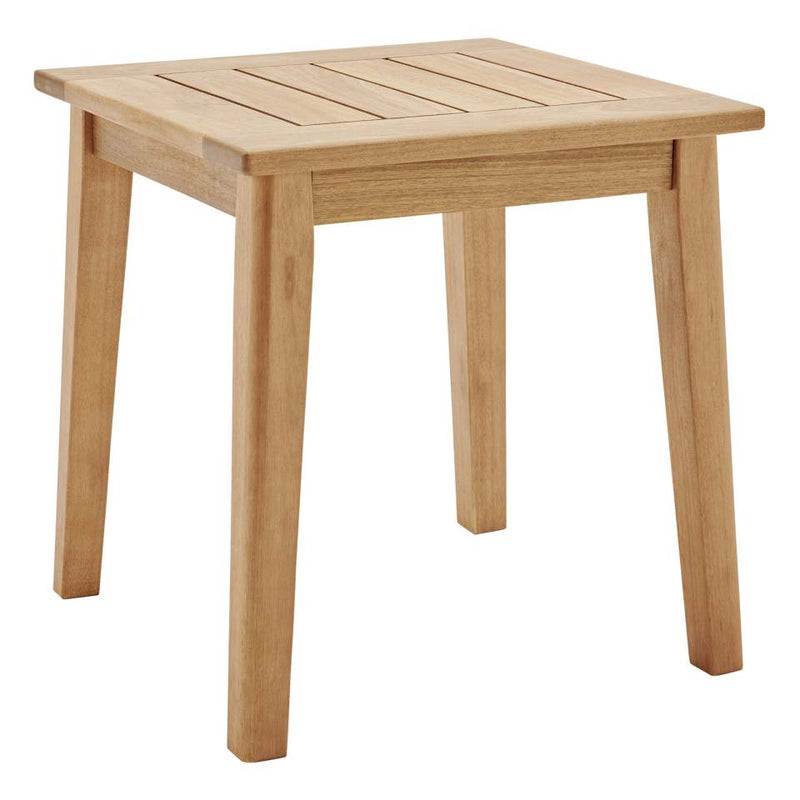 Modway Breton 5 Piece Outdoor Patio Ash Wood Set