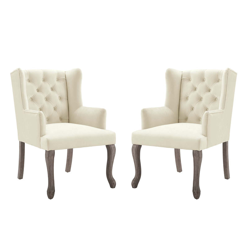 Modway Realm Armchair Performance Velvet Set of 2