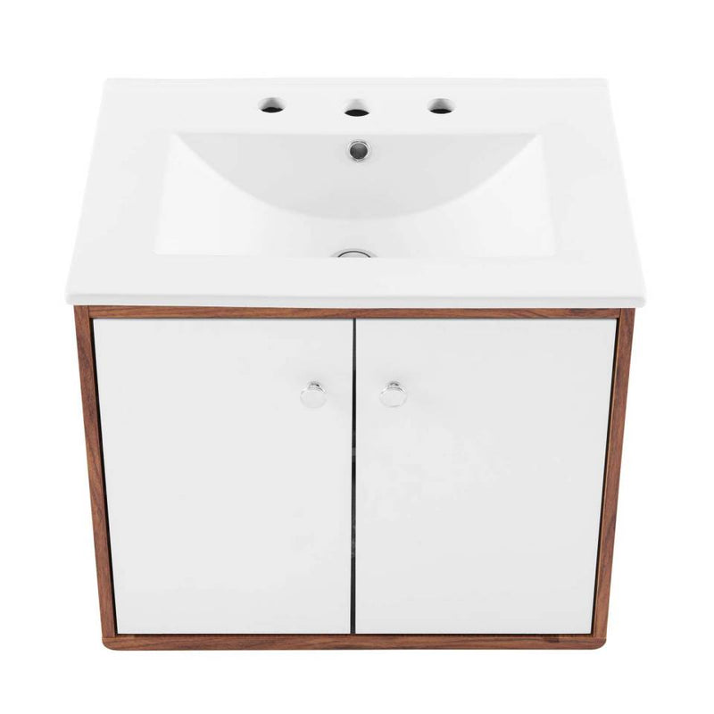 "Modway Transmit 24"" 	Wall-Mount Bathroom Vanity"