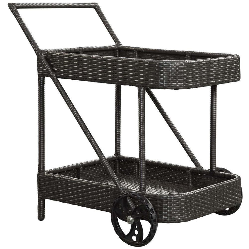 Modway Replenish Outdoor Patio Beverage Cart - Espresso