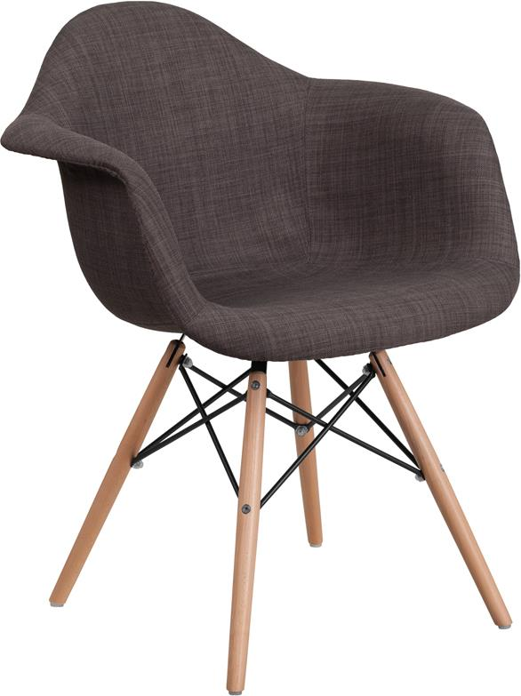Flash Furniture Alonza Series Fabric Chair With Wood Base