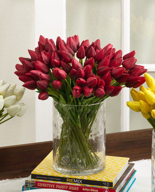 Saro Petite Tulip 9-Piece Bunch - Set Of 12