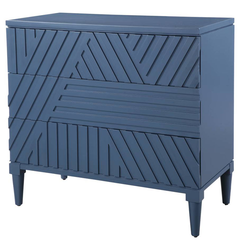 Uttermost Colby Blue Drawer Chest