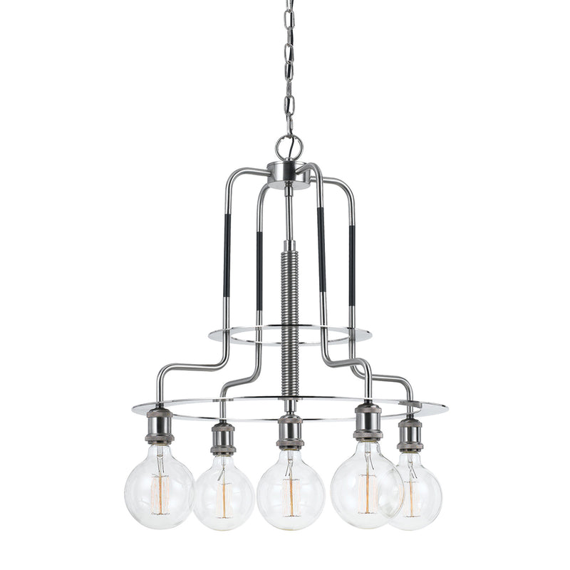 Cal Lighting FX-3652-5 60W X 5 Transformer Metal Chandelier