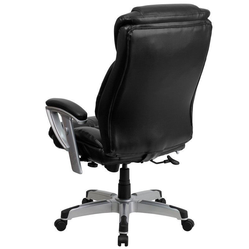 Flash Furniture Hercules Series 400 Lb. Capacity Big & Tall Black Leather Executive Swivel Office Chair With Height & Width Adjustable Arms