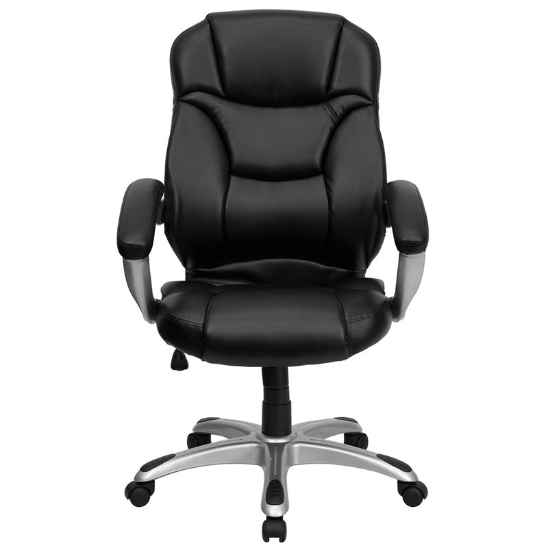Flash Furniture High Back Black Leather Contemporary Executive Swivel Office Chair