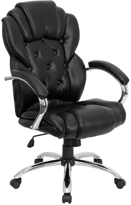 Flash Furniture High Back Transitional Style Black Leather Executive Swivel Office Chair