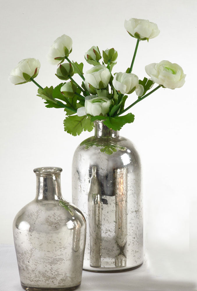 Saro Silver Bottle Vase