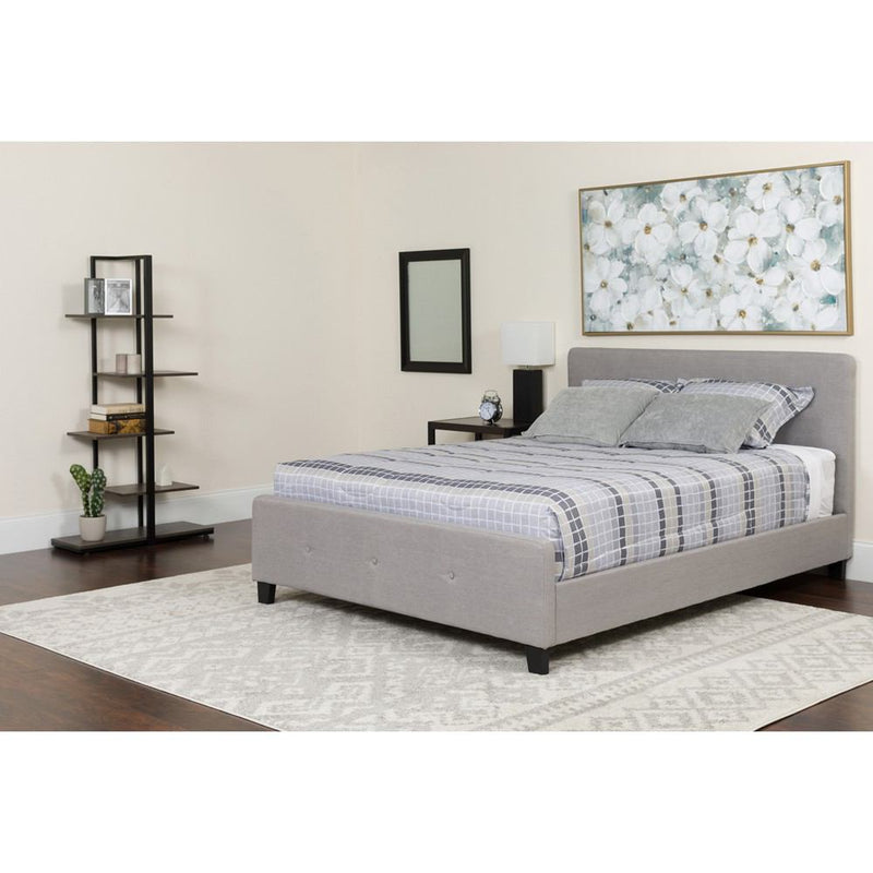 Flash Furniture Tribeca Full Size Tufted Upholstered Platform Bed with Pocket Spring Mattress