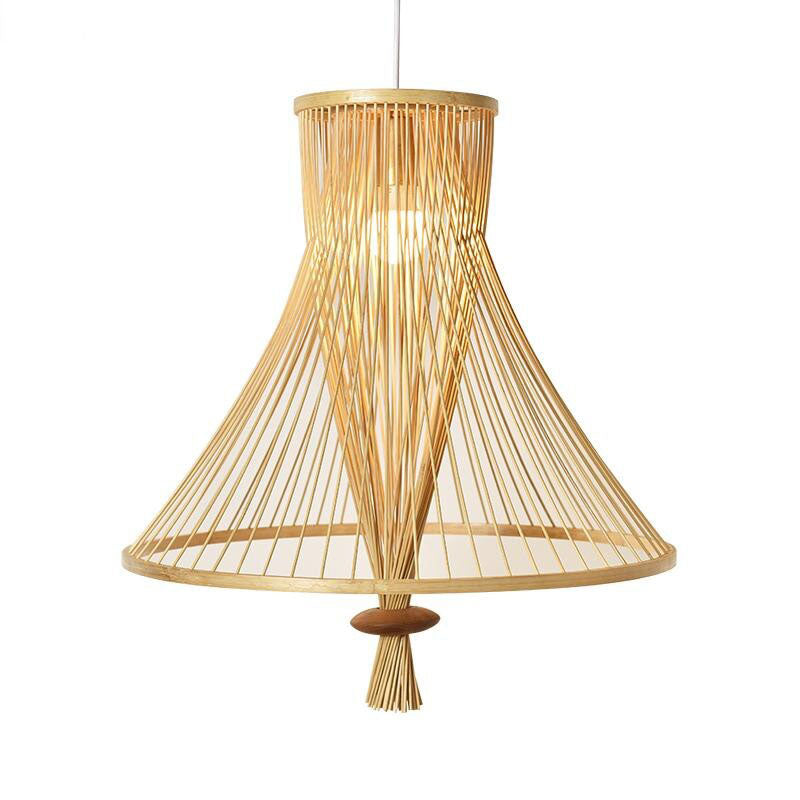 Bamboo Wicker Rattan Bundle Shade Pendant Light By Artisan Living