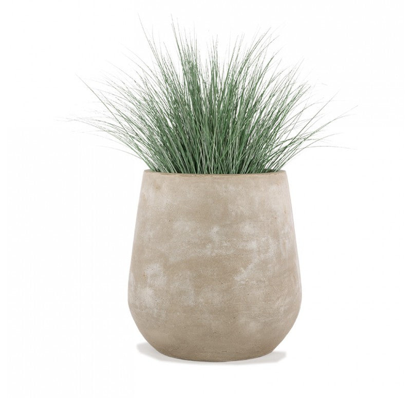 Gold Leaf Design Group Bear Grass In Urbano Bell Fiber Clay Planter