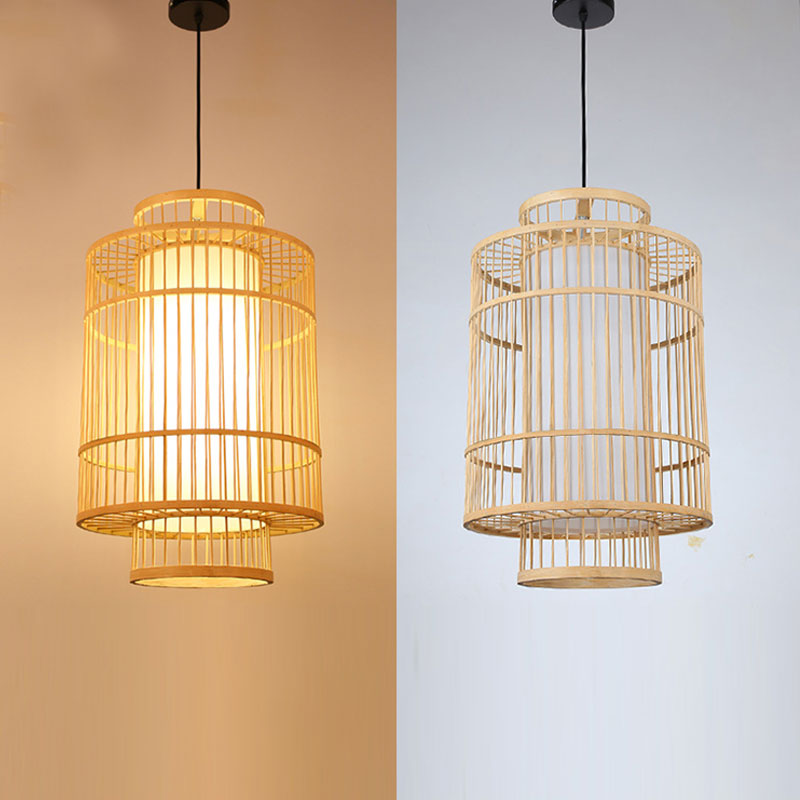 Bamboo Cage Modern Pendant Lamp