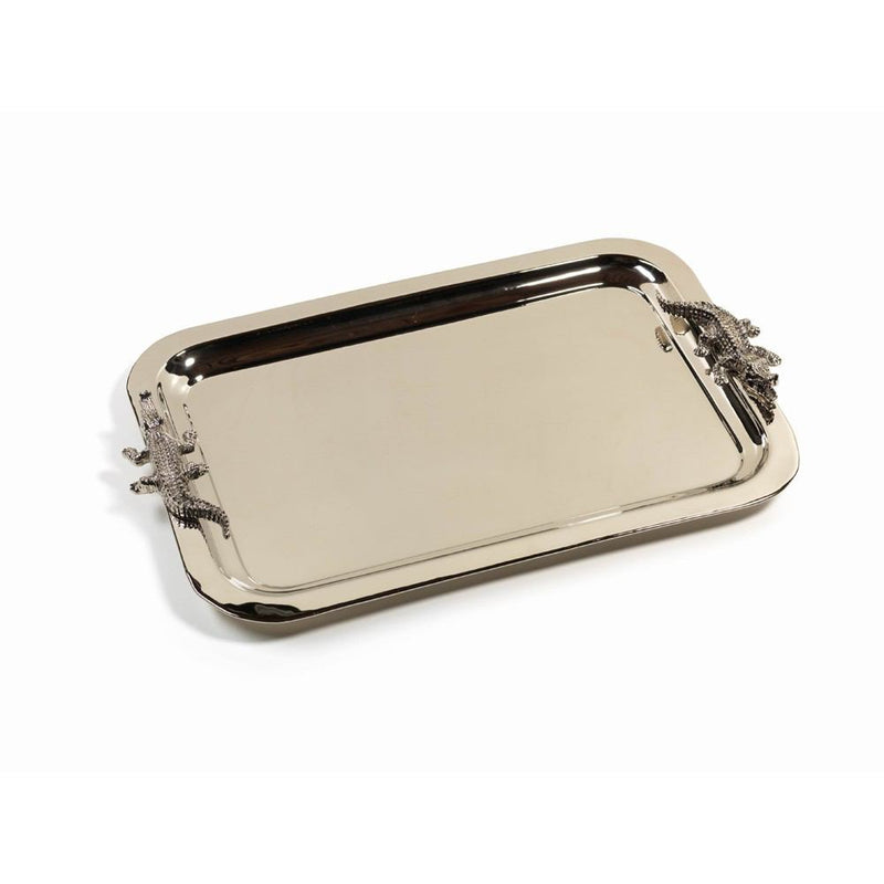 Zodax 22-Inch Long Crocodile Serving Tray