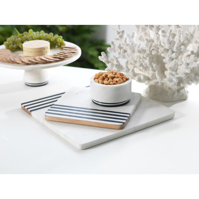 Zodax Marine Marble and Wood Cheese Board