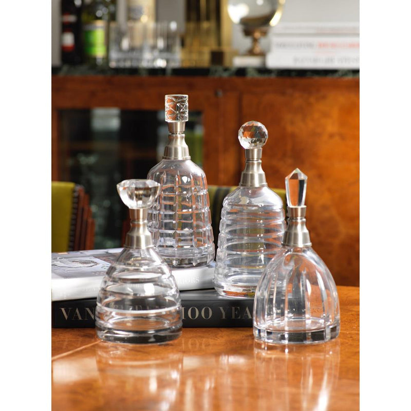 Zodax 9-Inch Tall Porto Glass Decanter with Column Stopper