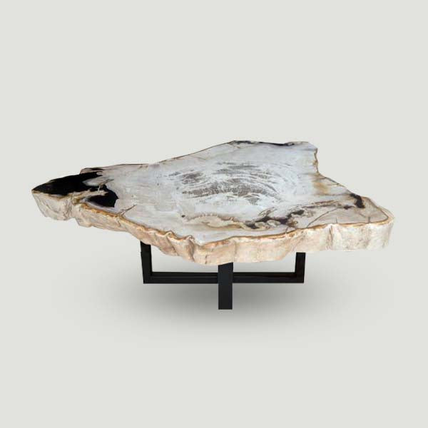Petrified Wood Slab With Custom Made Base PF-1104 by Aire Furniture