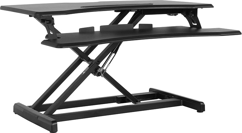 "HERCULES Series 32.6""W Black Sit / Stand Height Adjustable Ergonomic Desk by Flash Furniture"