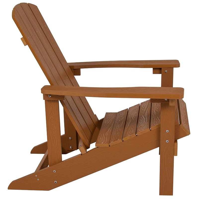 Charlestown All-Weather Adirondack Chair Faux Wood by Flash Furniture