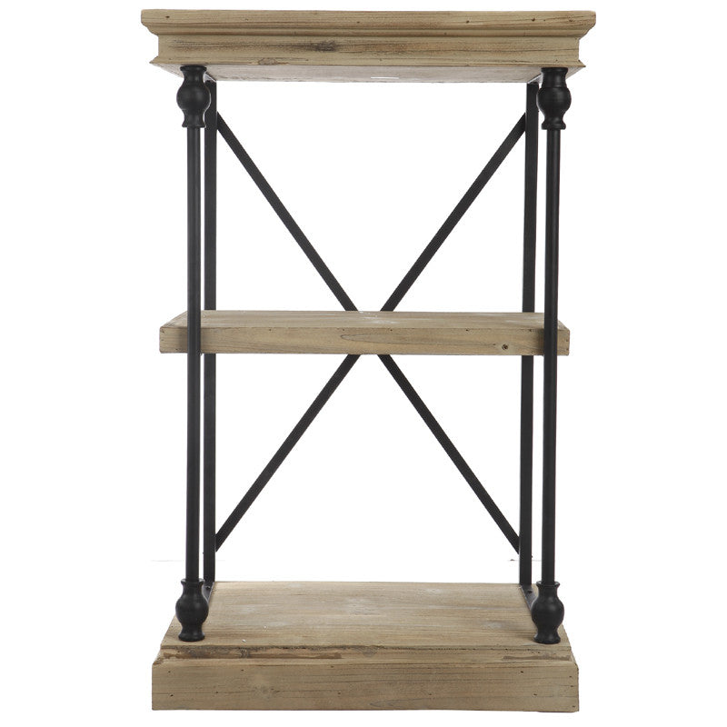 A&B Home Wood/Metal Low Etagere