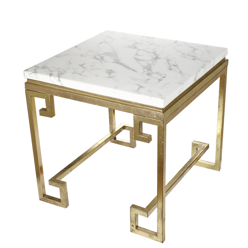 A&B Home  Phoenecian Nights Marble Side Table