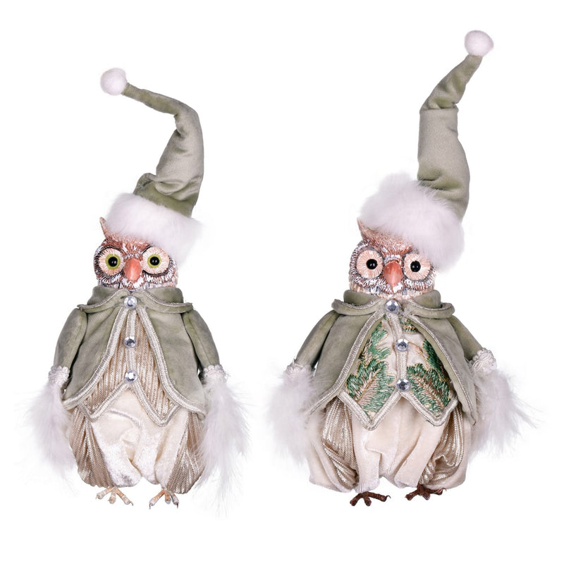 "7.5"" Jewel-Tide Greetings Collection Owl Set of 2 By Vickerman"