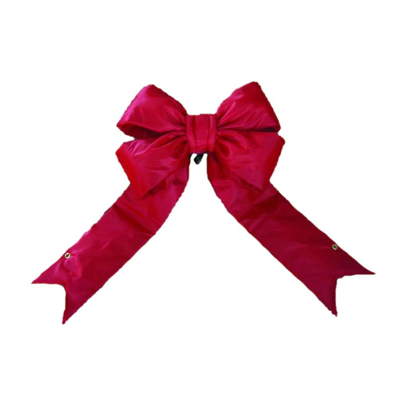 "36"" Red Nylon Outdoor Christmas Bow by Vickerman"