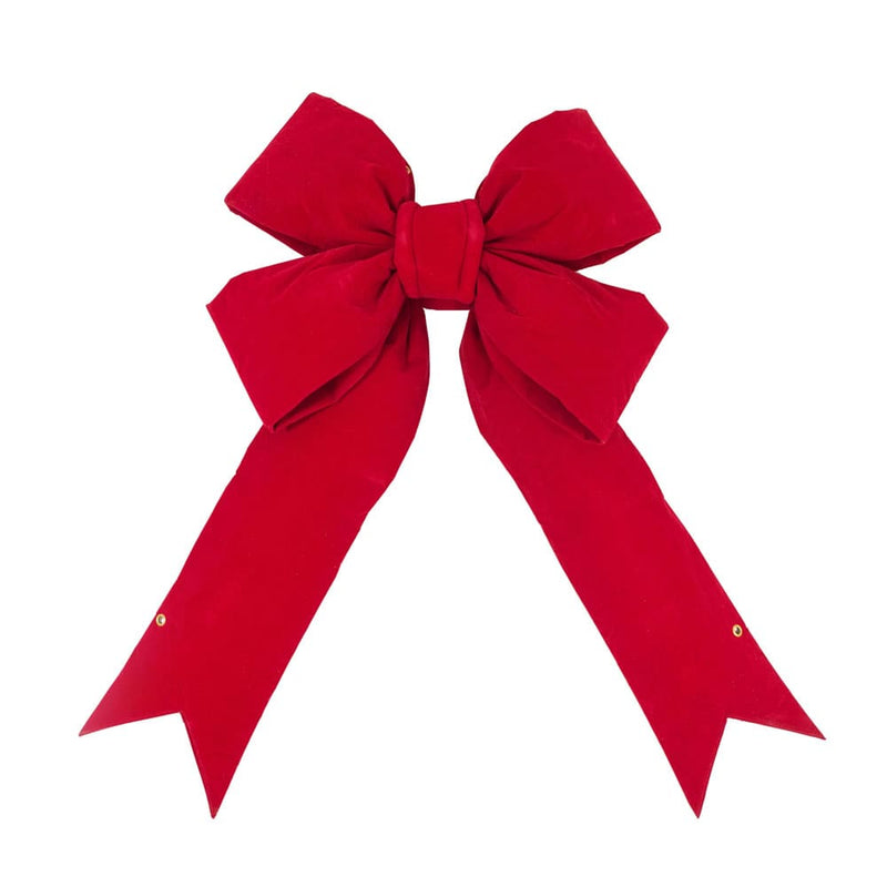 "24"" Red Velvet Outdoor Christmas Bow by Vickerman"